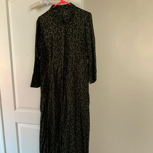 Zara maxi shirtdress